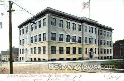 Bradford Durfee Textile School - Fall River, Massachusetts MA Postcard
