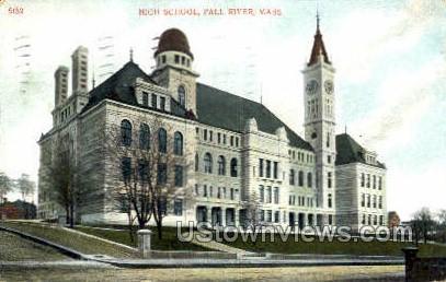 High School, Fall River - Massachusetts MA Postcard