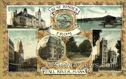 Fall River, MA,     ;     Fall River, Massachusetts Postcard