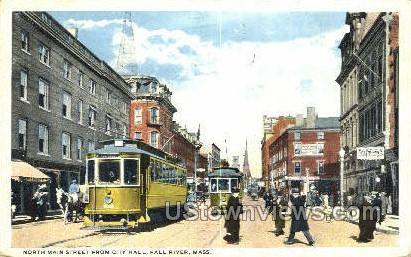North Main Street, City Hall - Fall River, Massachusetts MA Postcard