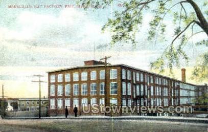 Marshall's Hat Factory - Fall River, Massachusetts MA Postcard