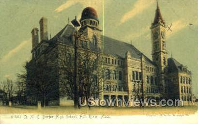 BMC Durfee High School - Fall River, Massachusetts MA Postcard