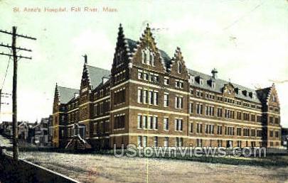St Anne's Hospital - Fall River, Massachusetts MA Postcard