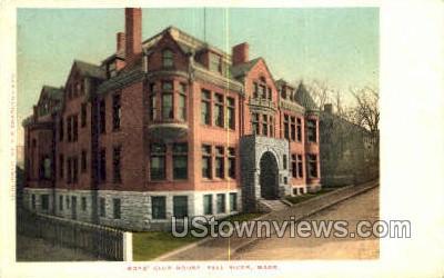 Boys' Club House - Fall River, Massachusetts MA Postcard