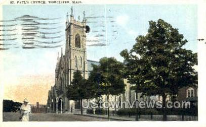 St. Paul's Church - Worcester, Massachusetts MA Postcard