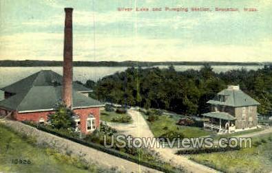 Silver Lake, Pumping Station - Brockton, Massachusetts MA Postcard
