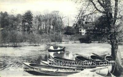 Paradise Pond, Smith College - Northampton, Massachusetts MA Postcard