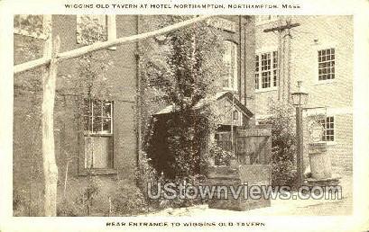 Wiggins Old Tavern, Hotel Northampton - Massachusetts MA Postcard