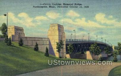 Calvin Coolidge Memorial Bridge - Northampton, Massachusetts MA Postcard