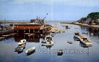 Rockport Harbor, Cape Ann - Massachusetts MA Postcard