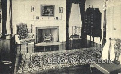 Rear Chamber, Pingree House - Salem, Massachusetts MA Postcard