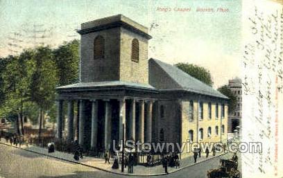 Kings Chapel - Boston, Massachusetts MA Postcard