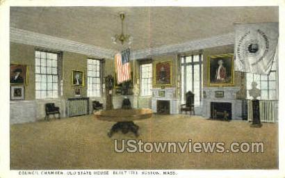 Council Chamber, Old State House, 1713 - Boston, Massachusetts MA Postcard