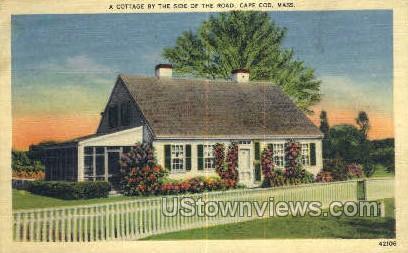 Cottage - Cape Cod, Massachusetts MA Postcard