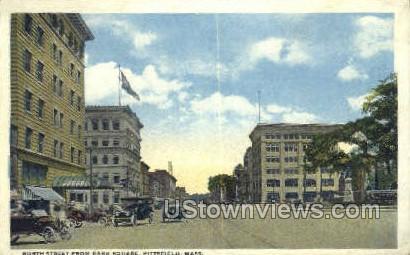 North Street, Park Square - Pittsfield, Massachusetts MA Postcard
