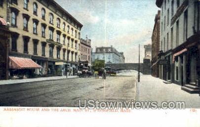 Massasoit House, The Arch, Main St - Springfield, Massachusetts MA Postcard