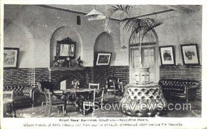 Royal Naval Barracks, Reception Room - Chatham, Massachusetts MA Postcard