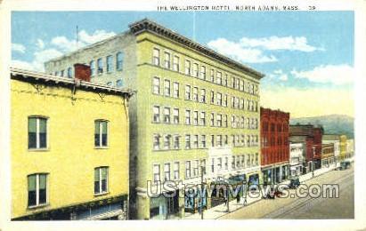 Wellington Hotel - North Adams, Massachusetts MA Postcard