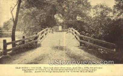 Old North Bridge - Misc, Massachusetts MA Postcard