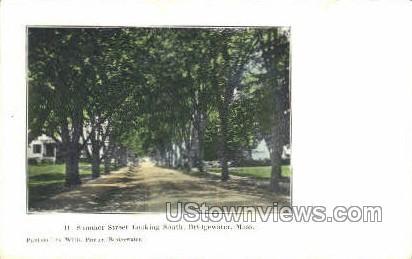 Summer Street - Bridgewater, Massachusetts MA Postcard