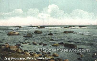 Brace Cove - East Gloucester, Massachusetts MA Postcard
