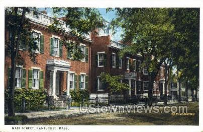 Main Street - Nantucket, Massachusetts MA Postcard