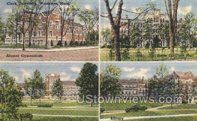Clark University, Alumni Gym - Worcester, Massachusetts MA Postcard