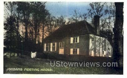 Jordan's Meeting House - Misc, Massachusetts MA Postcard