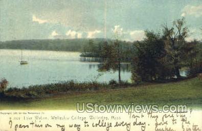 Lake Waban, Wellesley College - Massachusetts MA Postcard