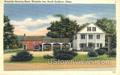 Wayside Country Store, Wayside Inn - South Sudbury, Massachusetts MA Postcard