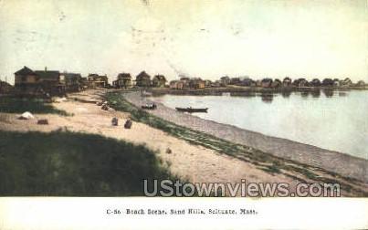 Beach, Sand Hills - Scituate, Massachusetts MA Postcard
