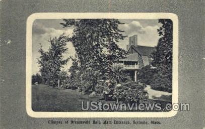Dreamwold Hall, Main Entrance - Scituate, Massachusetts MA Postcard