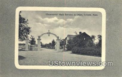 Dreamwold , Main Entrance & Office - Scituate, Massachusetts MA Postcard