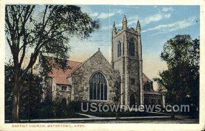 Baptist Church - Watertown, Massachusetts MA Postcard