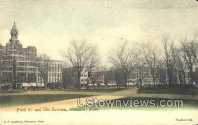 Front St, The Common - Worcester, Massachusetts MA Postcard
