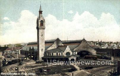 Union Station - Worcester, Massachusetts MA Postcard