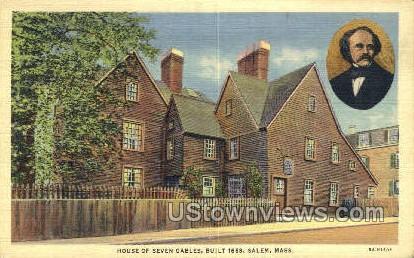 House of Seven Gables, 1668 - Salem, Massachusetts MA Postcard