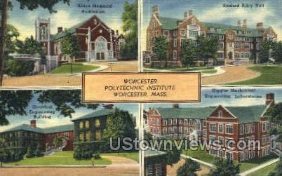Worcester Polytechnic Institute - Massachusetts MA Postcard