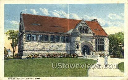 Public Library - Quincy, Massachusetts MA Postcard