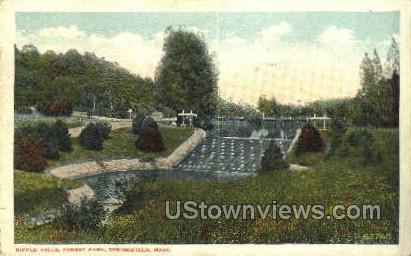 Ripple Falls, Forest Park - Springfield, Massachusetts MA Postcard