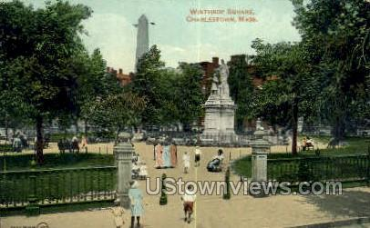 Winthrop Square - Charlestown, Massachusetts MA Postcard