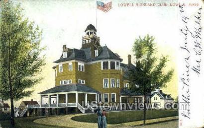 Lowell Highland Club - Massachusetts MA Postcard