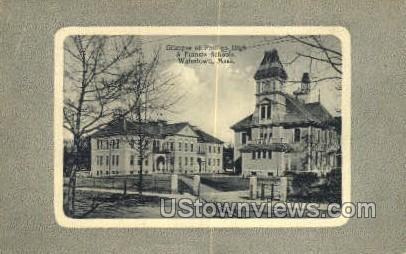 Phillips High & Francis Schools - Watertown, Massachusetts MA Postcard