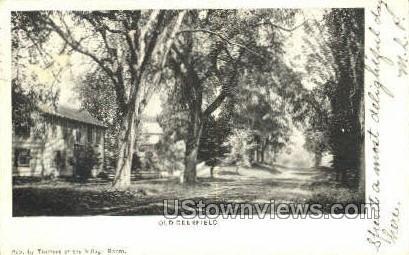 Old Deerfield, Mass     ;     Old Deerfield, Massachusetts Postcard