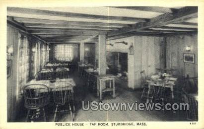 Public House, Tap Room - Sturbridge, Massachusetts MA Postcard
