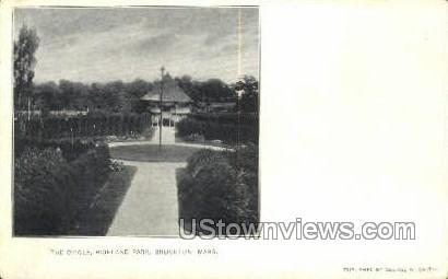 The Circle, Highland Park - Brockton, Massachusetts MA Postcard
