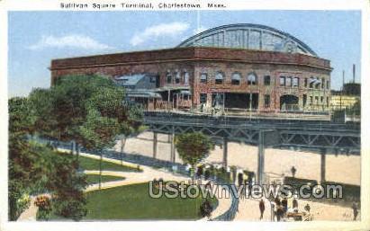 Sullivan Square Terminal - Charlestown, Massachusetts MA Postcard