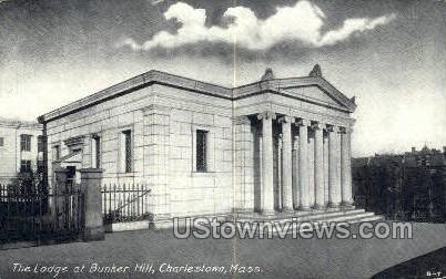 Lodge, Bunker Hill - Charlestown, Massachusetts MA Postcard