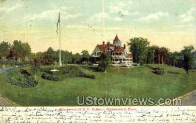 Residence of EH Barney - Springfield, Massachusetts MA Postcard