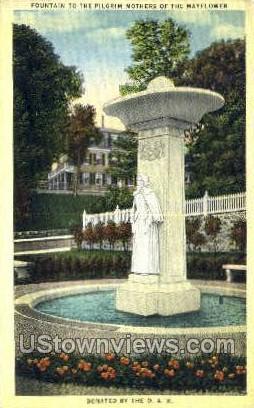 Fountain to the pilgrim Mothers - Misc, Massachusetts MA Postcard